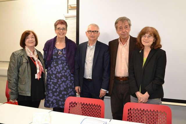Left to right: Prof. Susanne MacGregor (volume editor), Prof. Virginia Berridge, Prof. Gerry Stimson, Prof. Vincenzo Ruggiero, Prof. Betsy Thom (volume editor)